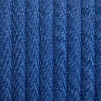 vidaXL Esszimmerstühle 2 Stk. Blau Stoff