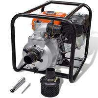 Benzin-Wasserpumpe 80 mm Schlauchanschluss 6,5 PS