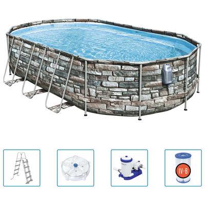 Bestway Pool-Set Power Steel Comfort Jet Series Oval 610x366x122 cm
