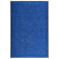 vidaXL Fußmatte Waschbar Blau 60x90 cm