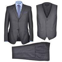 Business Anzug für Herren 3-teilig Grau Gr. 48