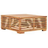 vidaXL Gartentish 69,5x69,5x31 cm Teak Massivholz