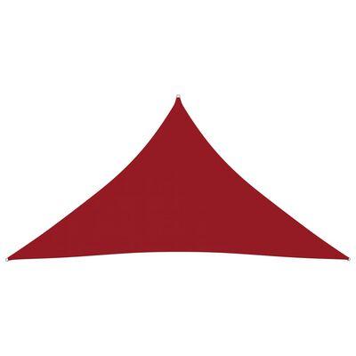 vidaXL Sonnensegel Oxford-Gewebe Dreieckig 4x5x5 m Rot
