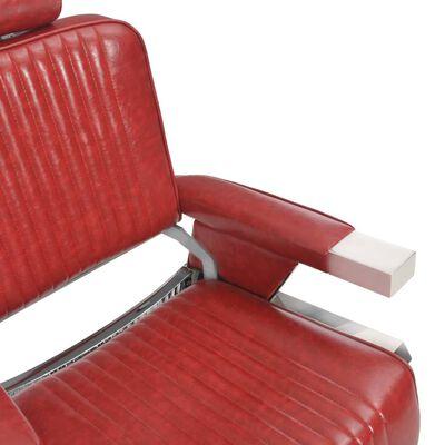 vidaXL Friseurstuhl Rot 68×69×116 cm Kunstleder