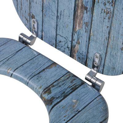 vidaXL Toilettensitze mit Deckel 2 Stk. MDF Altholz