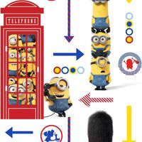 Kids at Home Tapete Minions Hello Weiß