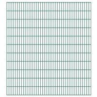vidaXL 2D Gartenzaun-Elemente 2,008x2,23 m Gesamtlänge 38 m Grün