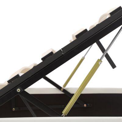 vidaXL Stauraumbett Hydraulisch Weiß Kunstleder 160×200cm