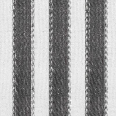 vidaXL Außenrollo 400 x 140 cm Anthrazit und Weiß Gestreift