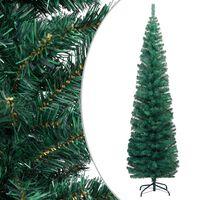 vidaXL Schlanker Künstlicher Weihnachtsbaum mit Ständer Grün 240cm PVC