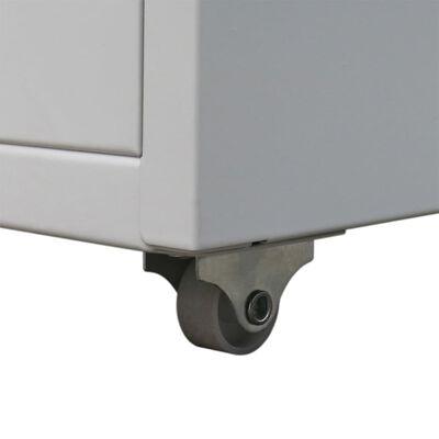 vidaXL Registerschrank mit 5 Schubladen Grau 68,5 cm Stahl