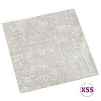 vidaXL PVC-Fliesen Selbstklebend 55 Stk. 5,11 m² Hellgrau