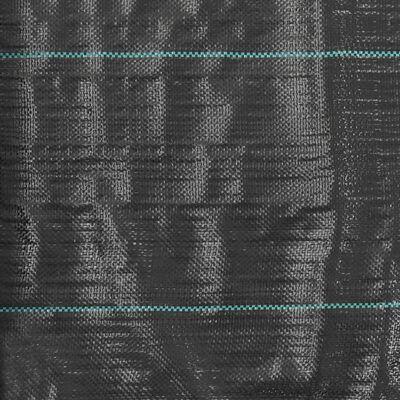 vidaXL Unkraut- und Wurzelschutzfolie PP 2 x 100 m Schwarz