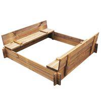 vidaXL Sandkasten Holz Imprägniert Quadratisch