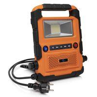 Smartwares LED-Arbeitsleuchte Bluetooth-Lautsprecher 27x30x6 cm Orange