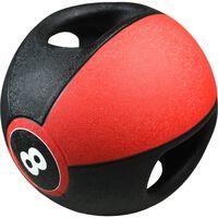 Pure2Improve Medizinball mit Griffen 8 kg Rot