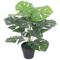 vidaXL Künstliche Monstera-Pflanze mit Topf 45 cm Grün