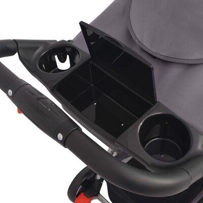 vidaXL Buggy Grau 102×52×100 cm