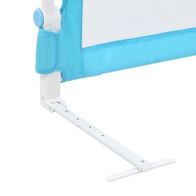 vidaXL Kleinkind-Bettschutzgitter Blau 180x42 cm Polyester