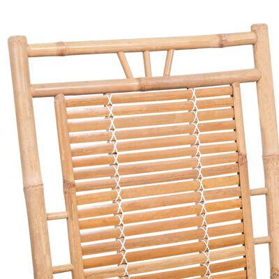 vidaXL Schaukelstuhl mit Auflage Bambus