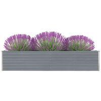 vidaXL Garten-Hochbeet Verzinkter Stahl 320×40×45 cm Grau