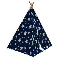 Sunny Tipi Zelt Cosmo Leuchtet im Dunkeln Blau und Weiß C052.102.01