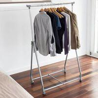 Storage solutions Kleiderständer 4 Rollen Metall