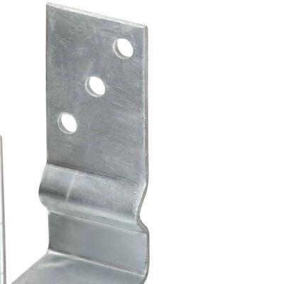 vidaXL Pfostenträger 2 Stk. Silbern 10×6×15 cm Verzinkter Stahl