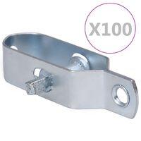 vidaXL Zaun-Drahtspanner 100 Stk. 90 mm Stahl Silbern