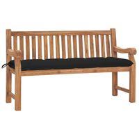 vidaXL Gartenbank mit Kissen 150 cm Massivholz Teak