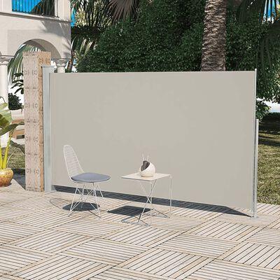 Terrassenmarkise Seitenmarkise 180 x 300 cm Creme