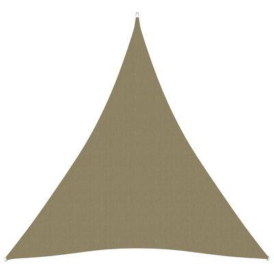 vidaXL Sonnensegel Oxford-Gewebe Dreieckig 4x5x5 m Beige