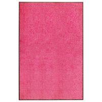 vidaXL Fußmatte Waschbar Rosa 120x180 cm