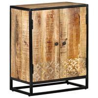 vidaXL Sideboard Handgeschnitzt 60x35x75 cm Massivholz Mango
