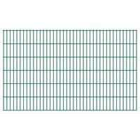 vidaXL 2D Gartenzaun-Elemente 2,008x1,23 m Gesamtlänge 8 m Grün