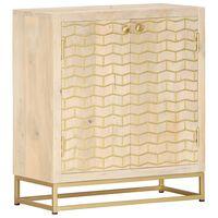 vidaXL Sideboard Golden 60 x 30 x 70 cm Mango-Massivholz