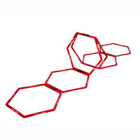 Pure2Improve Hexagon Koordinationsgitter 6 Stk. Rot