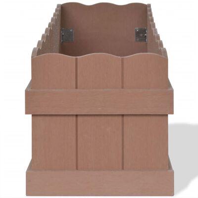 vidaXL WPC Garten-Hochbeet 70×25×25 cm Braun