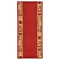 vidaXL Teppichläufer Gummirücken Rot 67x120 cm