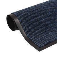 vidaXL Schmutzfangmatte Rechteckig Getuftet 40 x 60 cm Blau