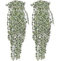 Künstlicher Efeu grün-weiß 90 cm 2 Stück