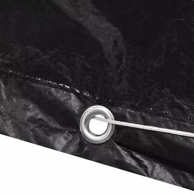 Abdeckplane für Garten-Wassertank 8 Ösen 116 x 100 x 120 cm