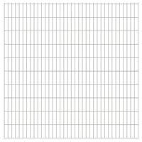 vidaXL 2D Gartenzaun-Elemente 2,008x2,03 m Gesamtlänge 14 m Silbern