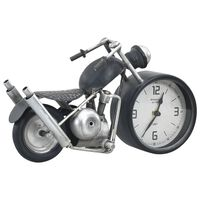 vidaXL Tischuhr Anthrazit 32x10,5x18 cm Eisen und MDF