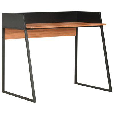 vidaXL Schreibtisch Schwarz und Braun 90x60x88 cm