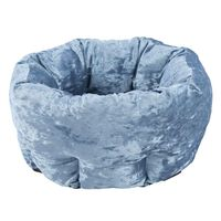 Scruffs Haustierbett Samt Blau