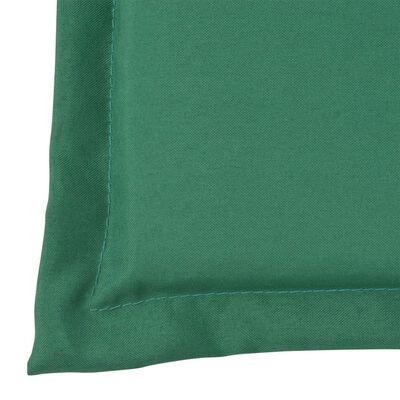 vidaXL Gartenstuhl Auflage Hochlehner 2 Stk. Grün 120 x 50 x 3 cm
