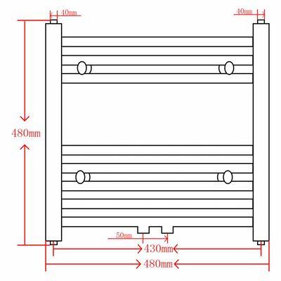 vidaXL Badheizkörper Grau Handtuchhalter Gebogen 600x1424 mm