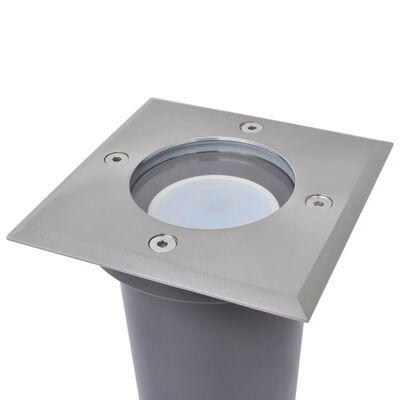 vidaXL Outdoor LED-Bodenleuchten 3 Stk. Quadratisch