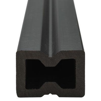vidaXL WPC Hohlkammer Terrassendielen + Zubehör 36m² 2,2m Dunkelbraun